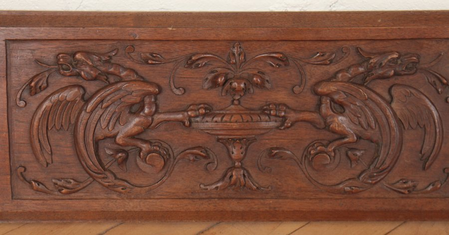 4 CARVED WALNUT VICTORIAN PLAQUES C.1880 - 3