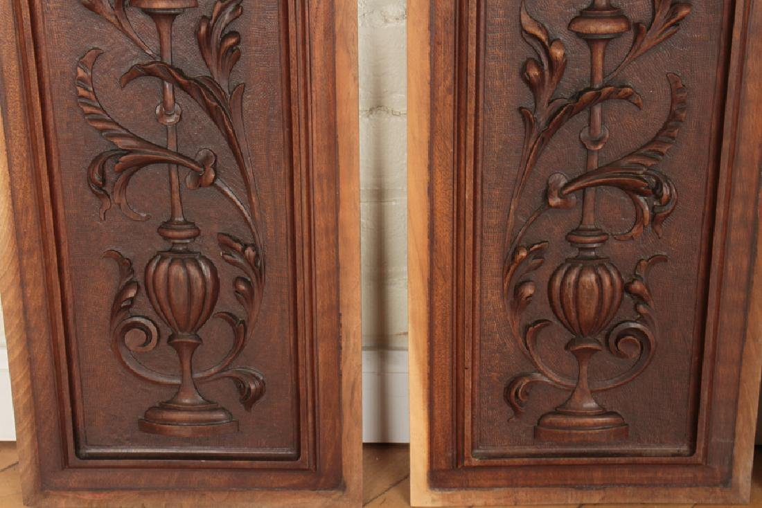 4 ARCH TOPPED CARVED VICTORIAN WALNUT PLAQUES - 3