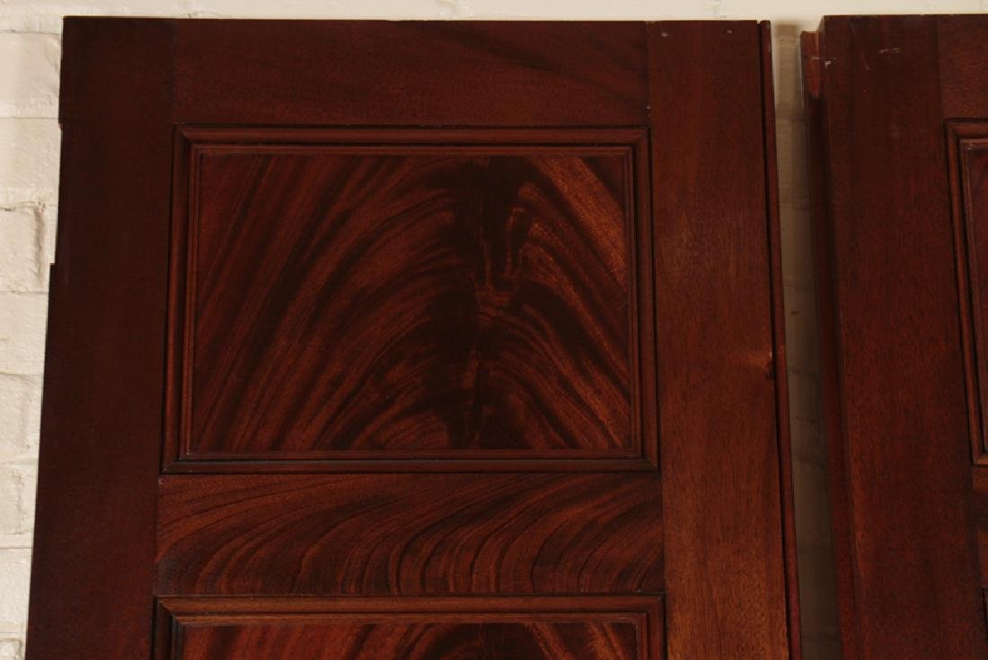PAIR RAISED PANEL FLAME MAHOGANY DOORS - 2