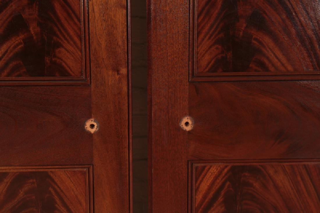 PAIR RAISED PANEL FLAME MAHOGANY DOORS - 3