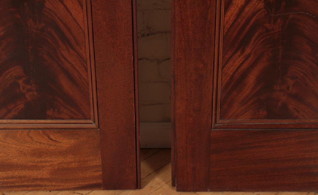 PAIR RAISED PANEL FLAME MAHOGANY DOORS - 4