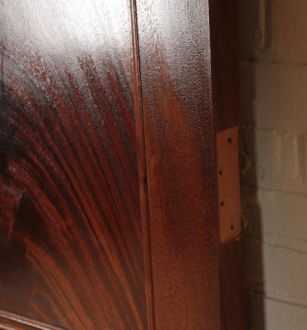 PAIR RAISED PANEL FLAME MAHOGANY DOORS - 5