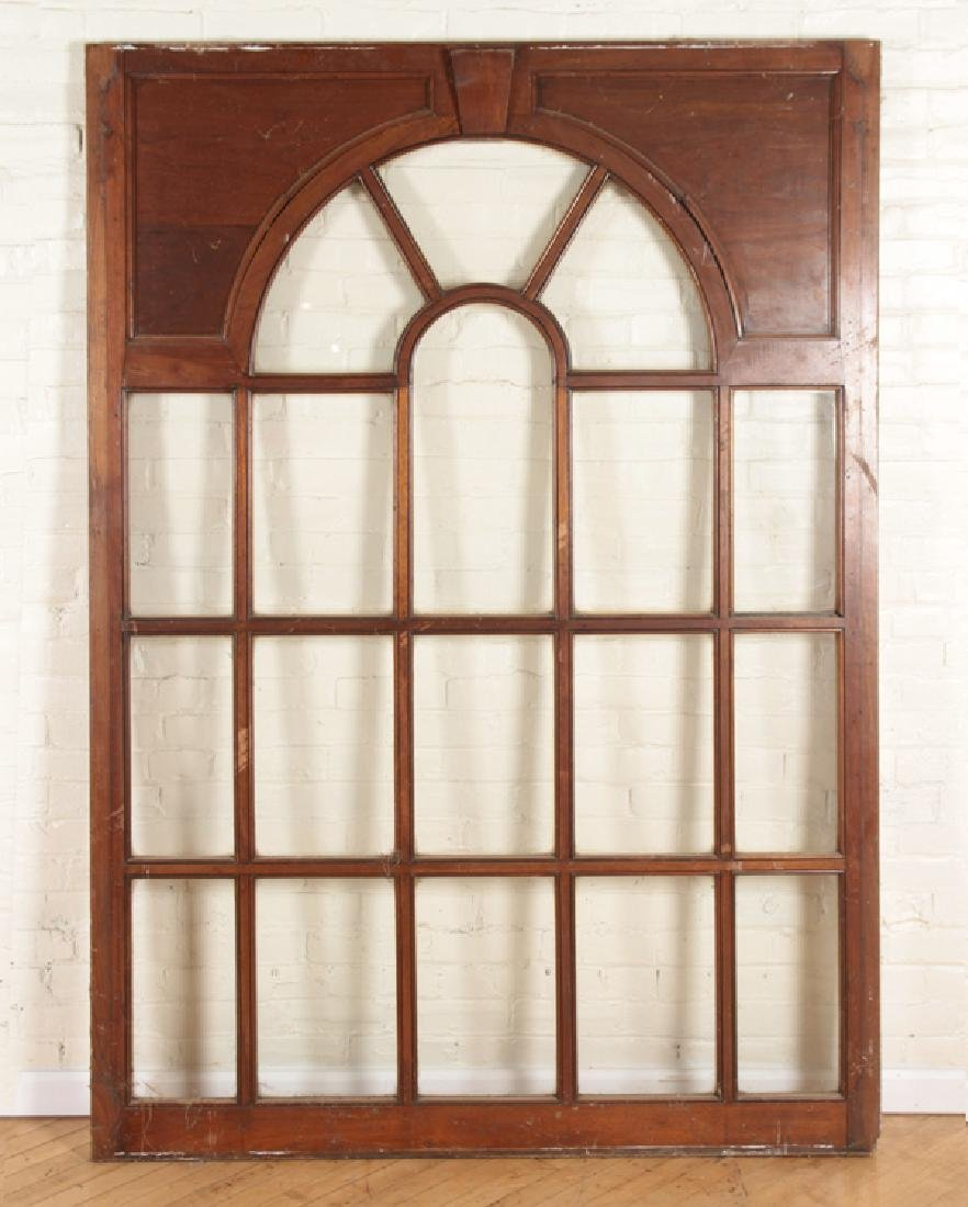 SET 4 MAHOGANY GLASS PALLADIAN WINDOWS/DOORS - 2