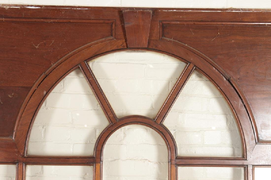 SET 4 MAHOGANY GLASS PALLADIAN WINDOWS/DOORS - 3