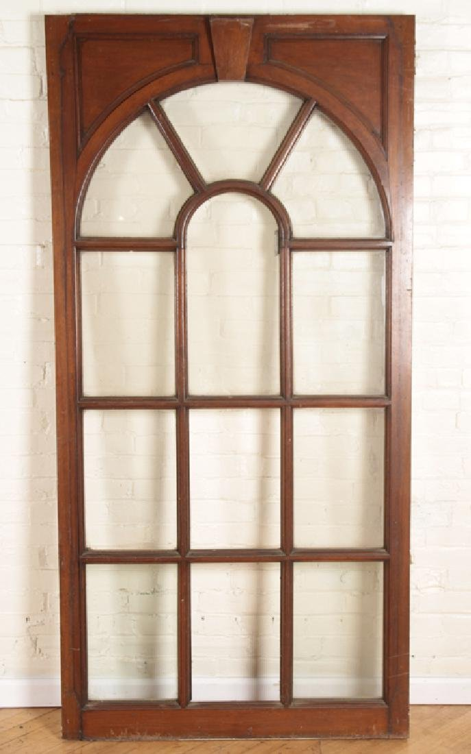 SET 4 MAHOGANY AND GLASS PALLADIAN STYLE WINDOWS/DOORS - 2