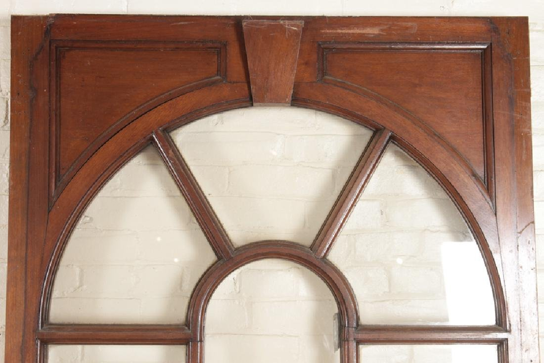 SET 4 MAHOGANY AND GLASS PALLADIAN STYLE WINDOWS/DOORS - 3
