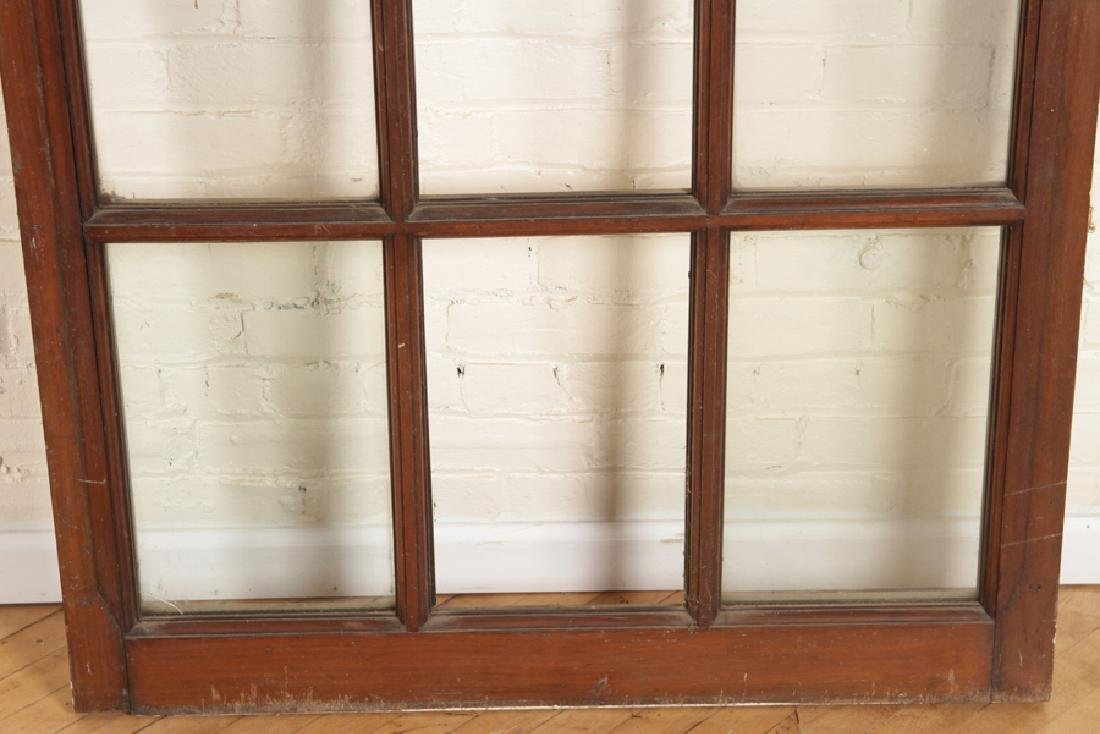 SET 4 MAHOGANY AND GLASS PALLADIAN STYLE WINDOWS/DOORS - 4