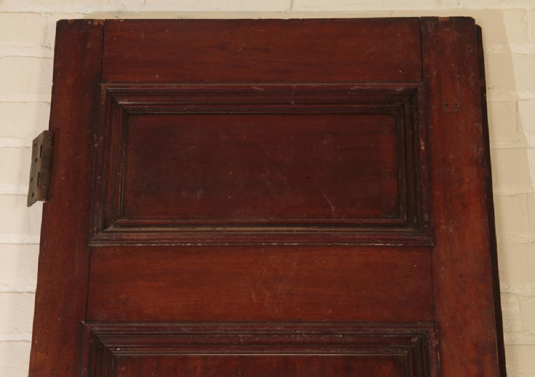 PAIR SOLID MAHOGANY 4 PANEL DOORS CIRCA 1900 - 2