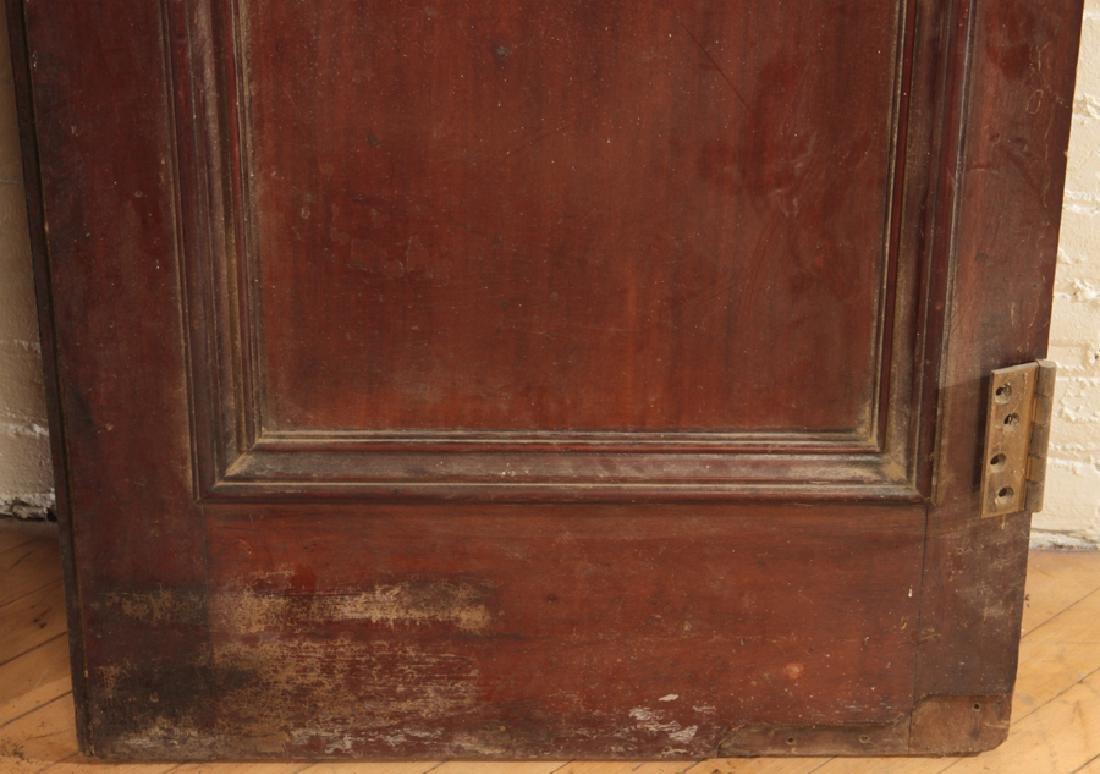 PAIR SOLID MAHOGANY 4 PANEL DOORS CIRCA 1900 - 4