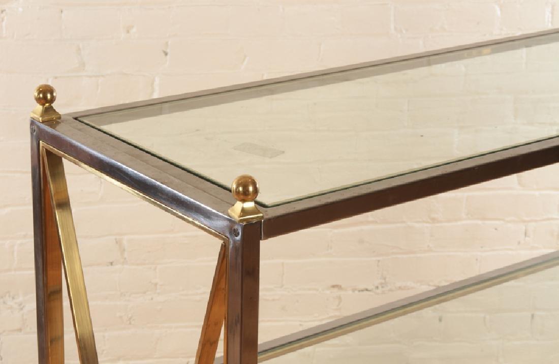 REGENCY STYLE ETEGERE WITH INSET GLASS SHELVES - 4