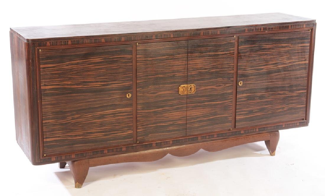 FRENCH ART DECO MACASSAR SIDEBOARD C.1940 - 2