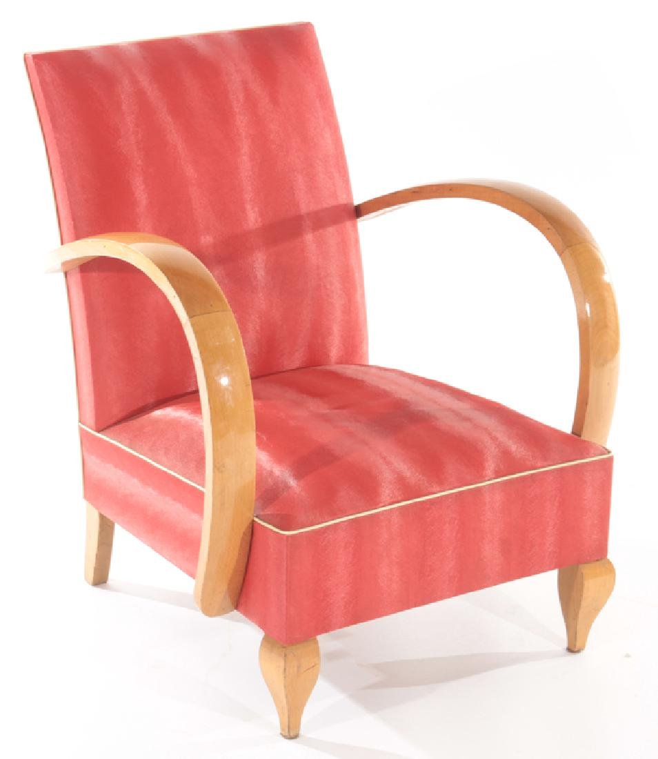 PAIR FRENCH ART DECO OPEN ARM CHAIRS C.1940 - 2