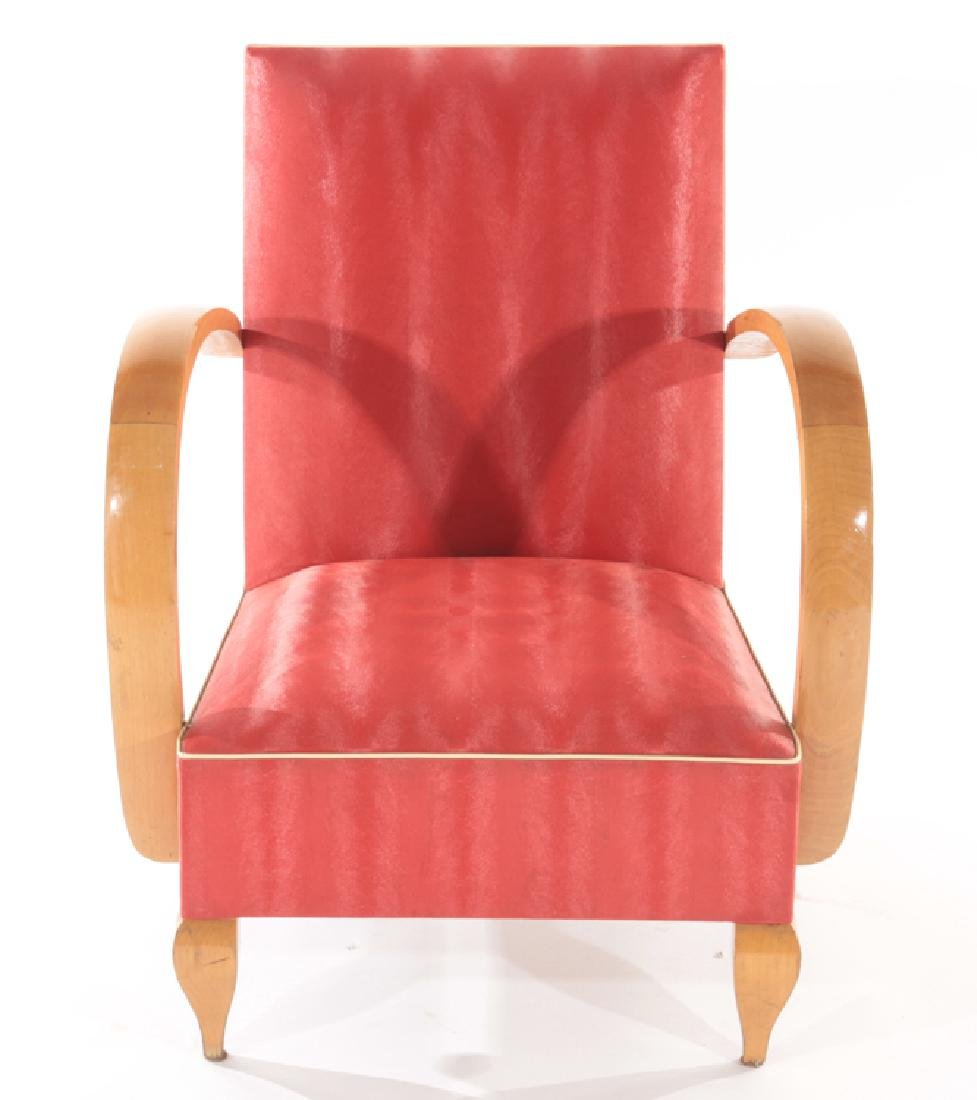 PAIR FRENCH ART DECO OPEN ARM CHAIRS C.1940 - 3