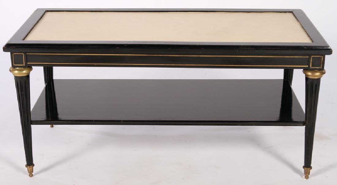 DIRECTOIRE STYLE EBONIZED COFFEE TABLE 1950