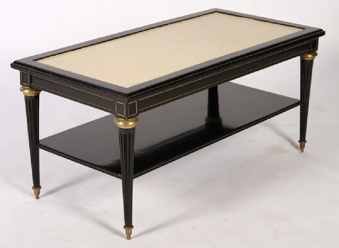 DIRECTOIRE STYLE EBONIZED COFFEE TABLE 1950 - 2