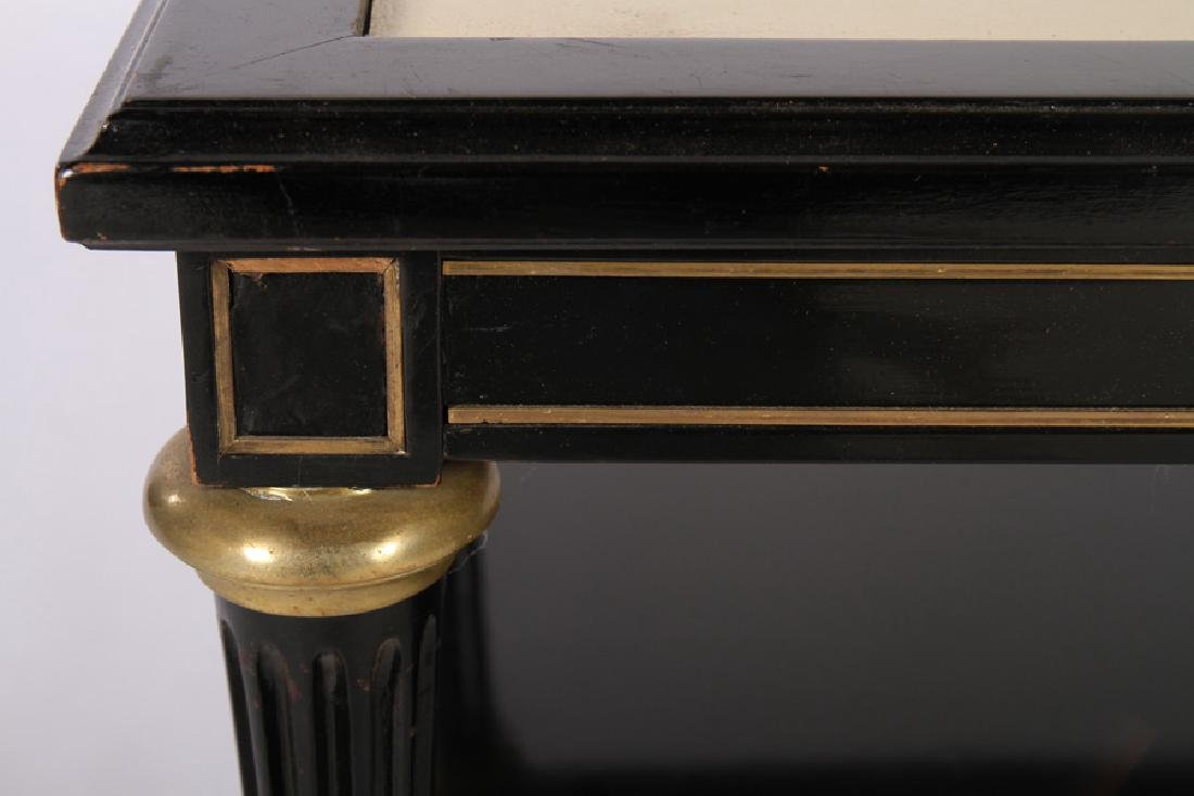 DIRECTOIRE STYLE EBONIZED COFFEE TABLE 1950 - 4