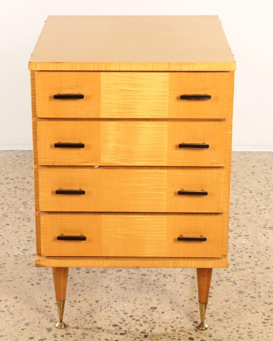 FRENCH SYCAMORE CHEST OR NIGHT STAND C.1950