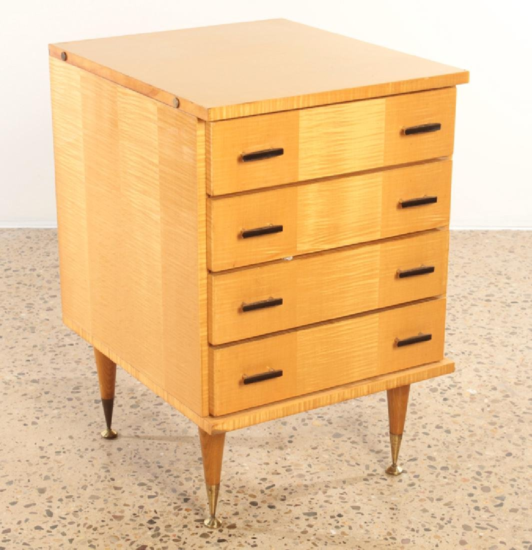 FRENCH SYCAMORE CHEST OR NIGHT STAND C.1950 - 2