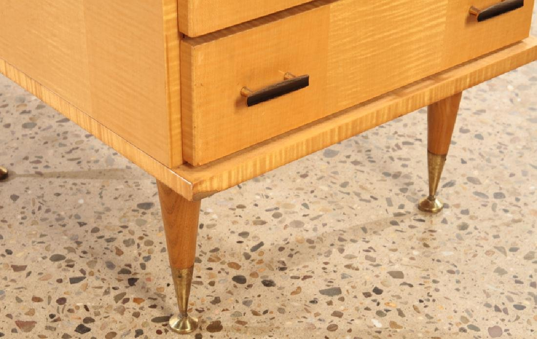 FRENCH SYCAMORE CHEST OR NIGHT STAND C.1950 - 5
