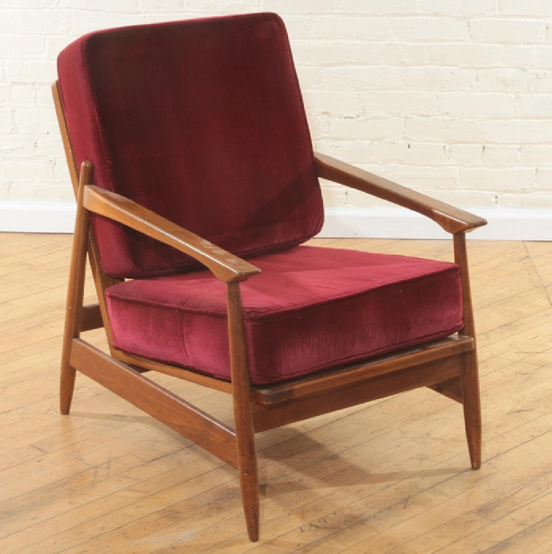 PAIR MAHOGANY DANISH OPEN ARM CHAIRS C.1960 - 2