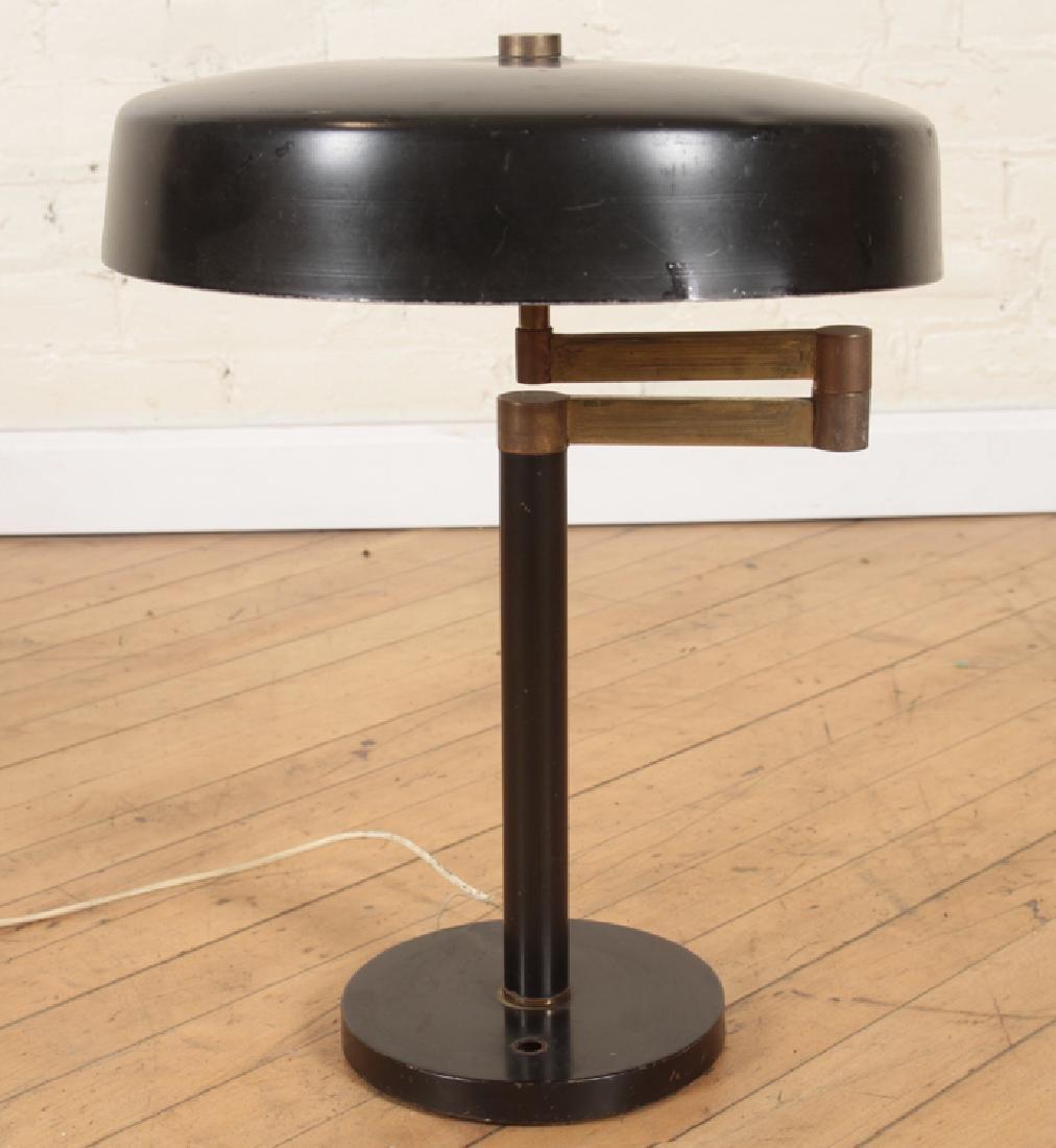 MID CENTURY MODERN BRONZE SWING ARM TABLE LAMP