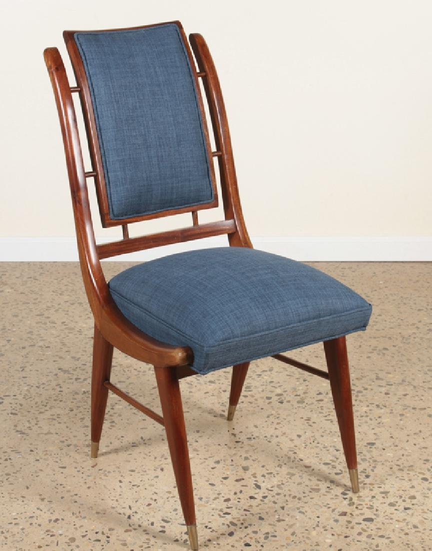 6 MAHOGANY ITALIAN CURVED BACK DINING CHAIRS - 2