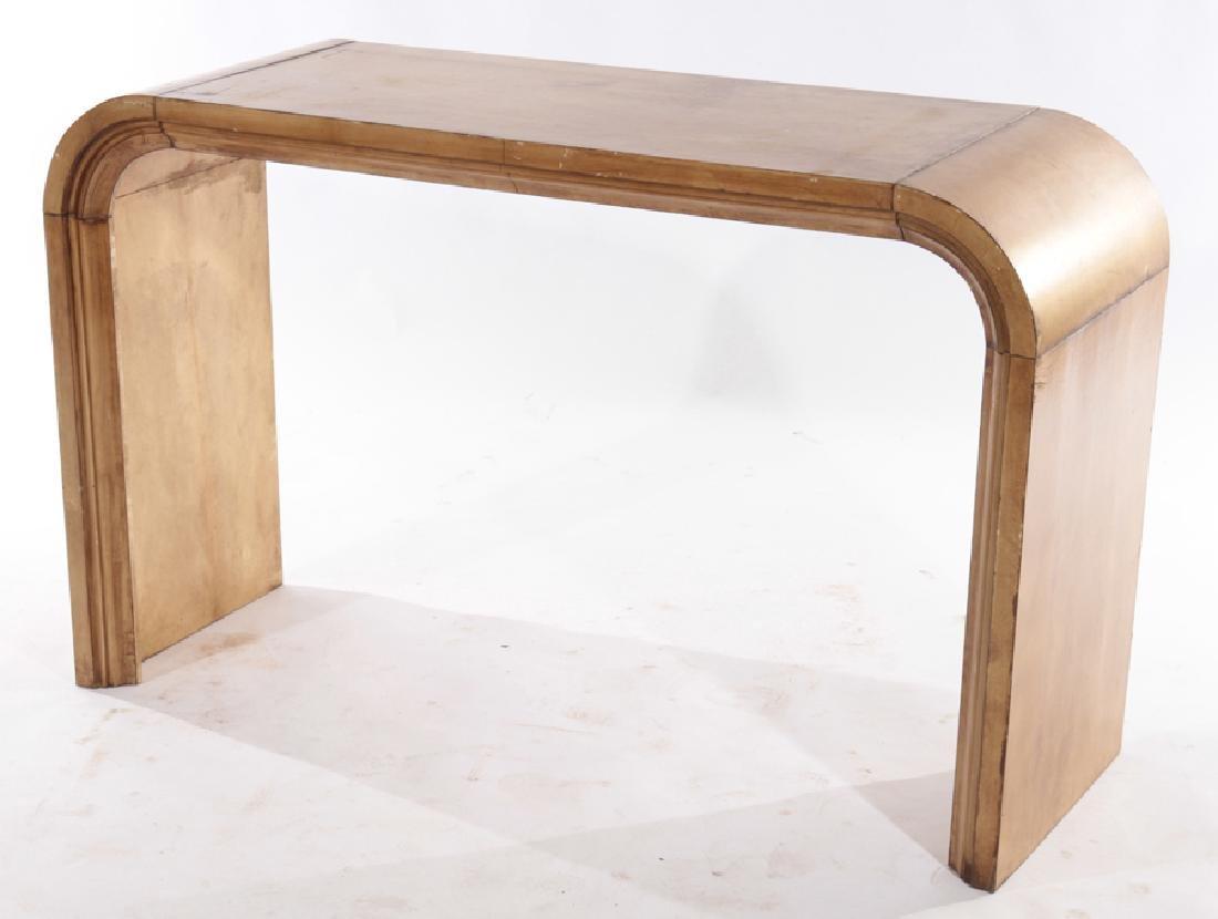 PAIR JEAN-MICHEL FRANK U FORM CONSOLE TABLES 1960 - 3