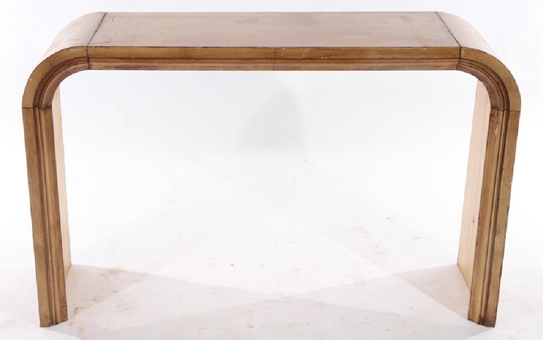 PAIR JEAN-MICHEL FRANK U FORM CONSOLE TABLES 1960 - 4
