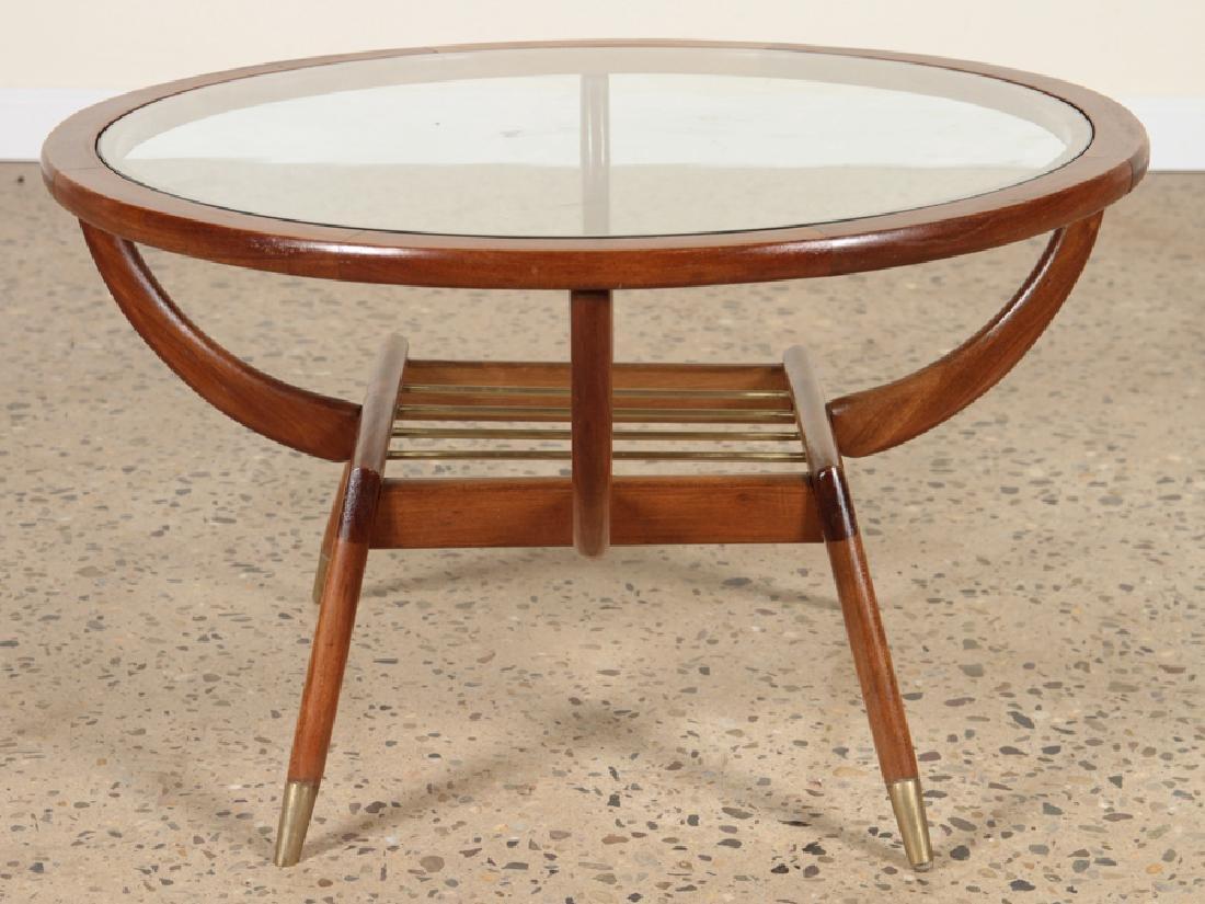 CENTURY MODERN CIRCULAR MAHOGANY COFFEE TABLE