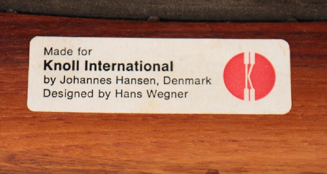 "HANS WEGNER TEAK AND LEATHER ""THE CHAIR"" C.1960 - 5"