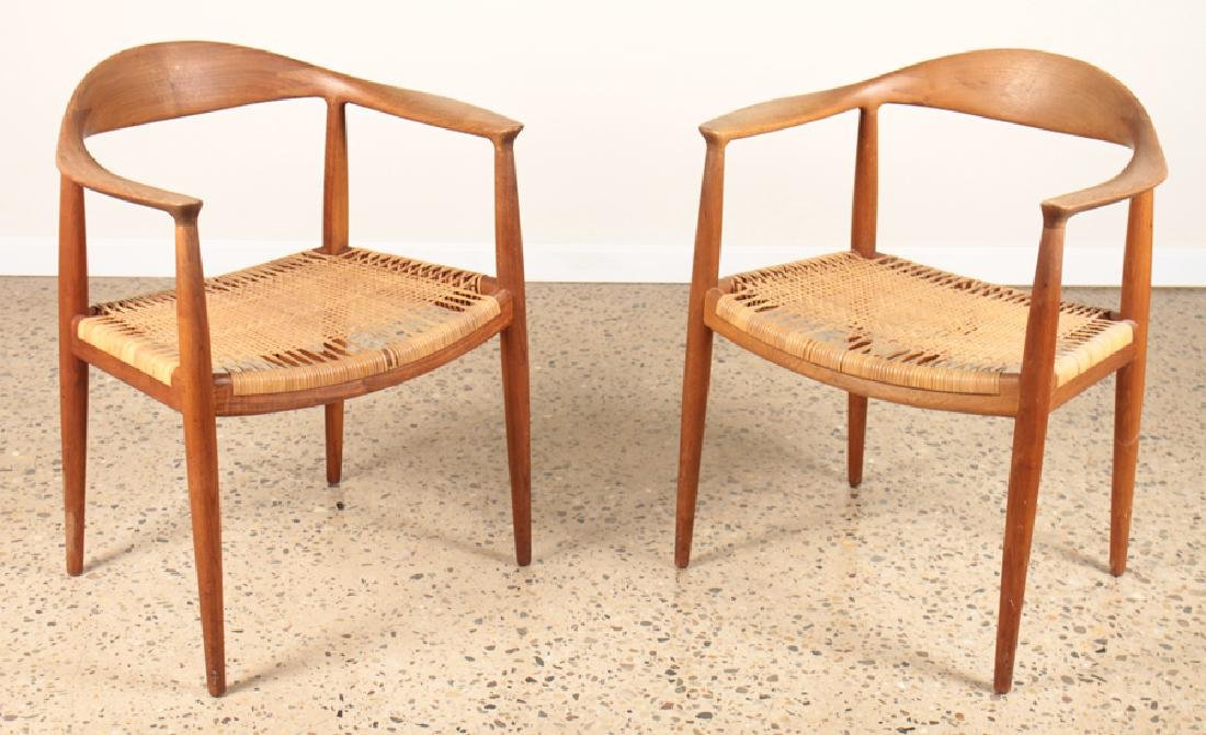 "PAIR HANS WEGNER JOHANNES HANSEN ""THE CHAIRS"""