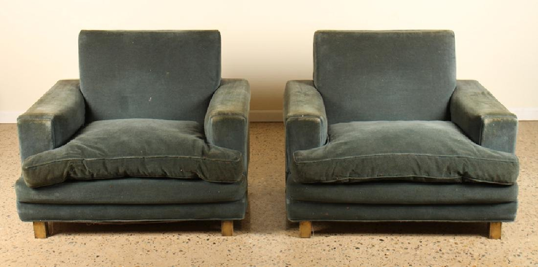 PAIR JACQUES ADNET CLUB CHAIRS CIRCA 1940