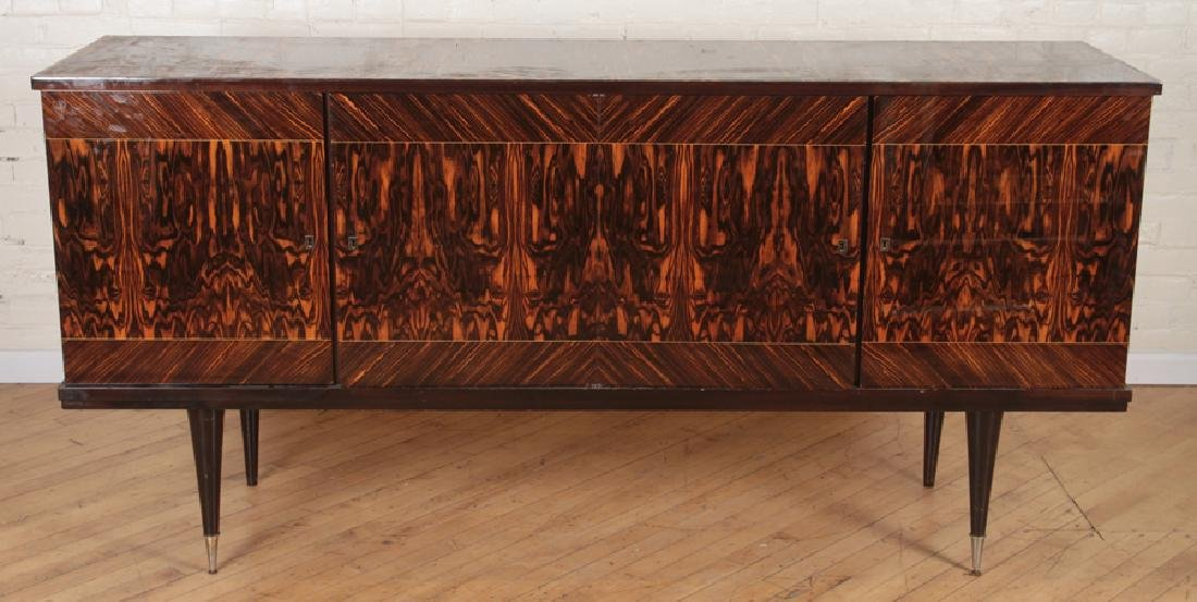 MACASSAR AND EXOTIC WOOD FRENCH SIDEBOARD C.1955