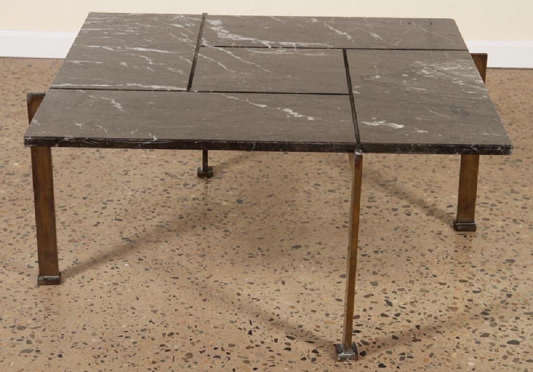 BRONZE MARBLE TOP COFFEE TABLE C.1940