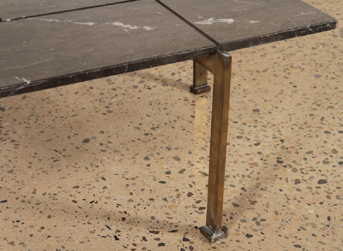 BRONZE MARBLE TOP COFFEE TABLE C.1940 - 3