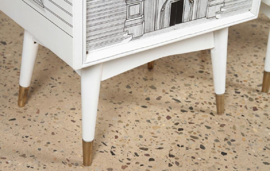 MID CENTURY MODERN FORNASETTI STYLE SIDE TABLES - 5