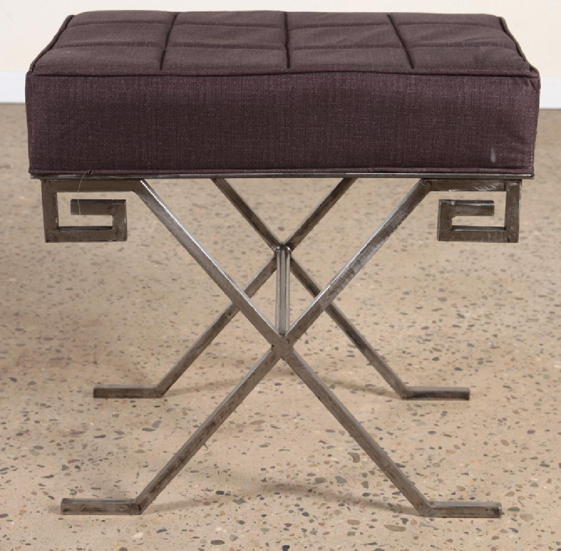 PAIR OF JEAN MICHEL FRANK STYLE IRON BENCHES - 3