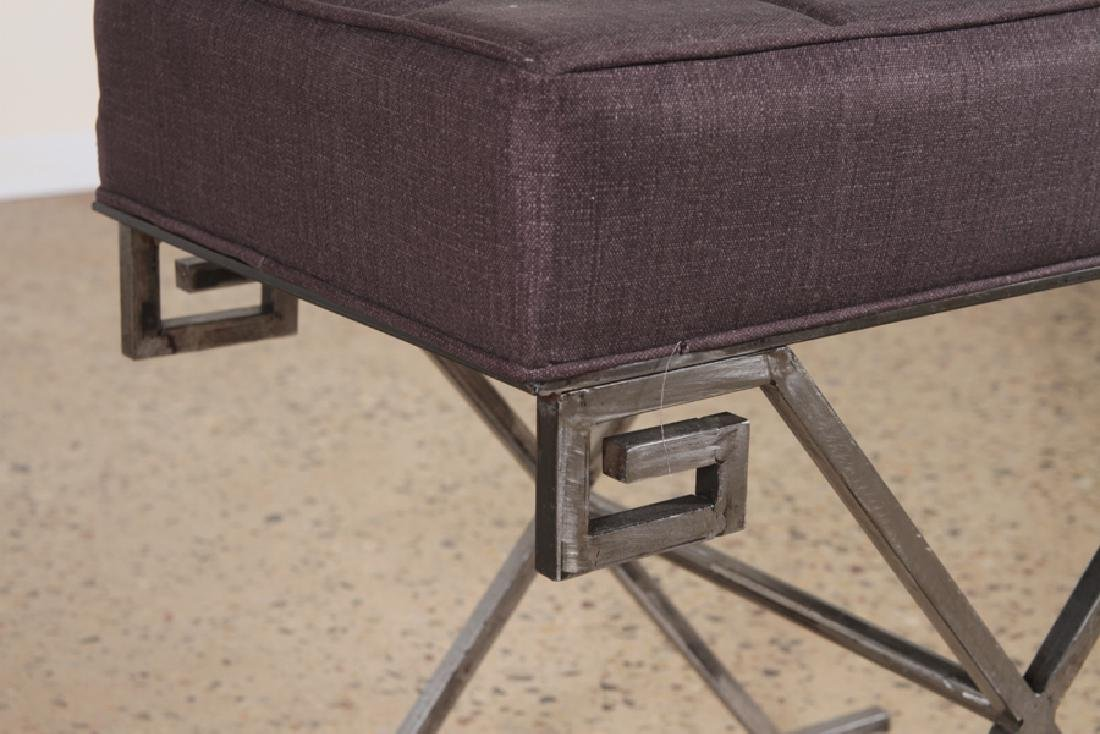 PAIR OF JEAN MICHEL FRANK STYLE IRON BENCHES - 5