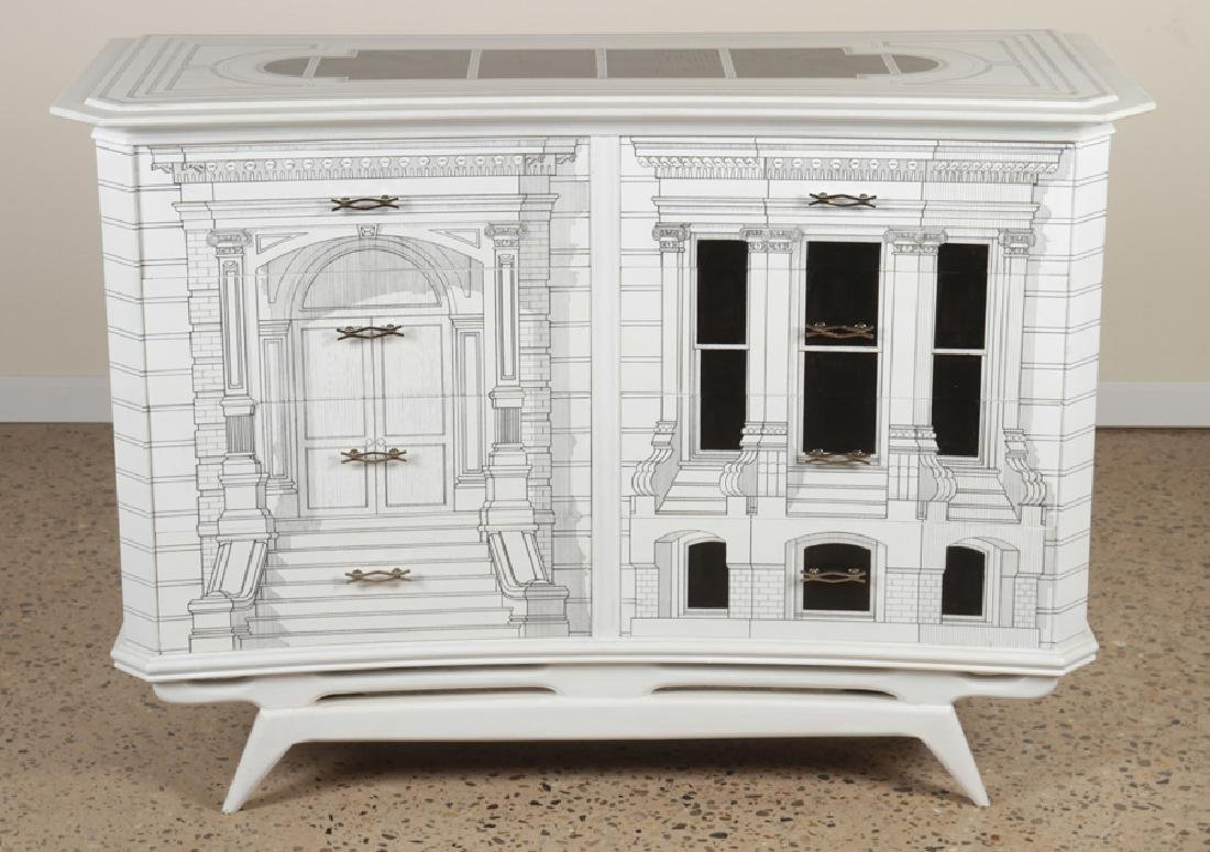 FORNASETTI STYLE 8 DRAWER COMMODE