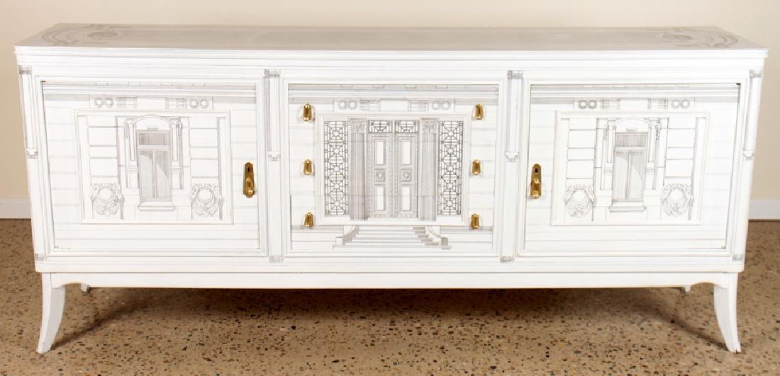 PAINTED FORNASETTI STYLE SIDEBOARD CIRCA 1960