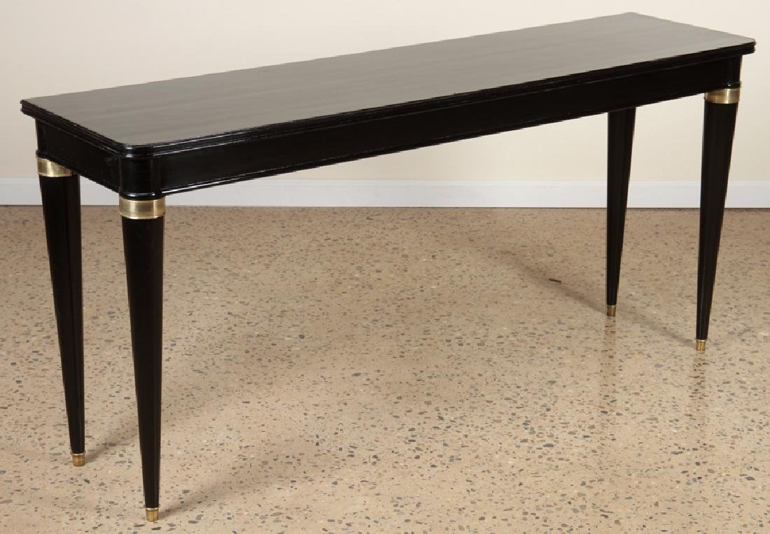 EBONIZED CONSOLE TABLE MANNER OF ANDRE ARBUS 1940