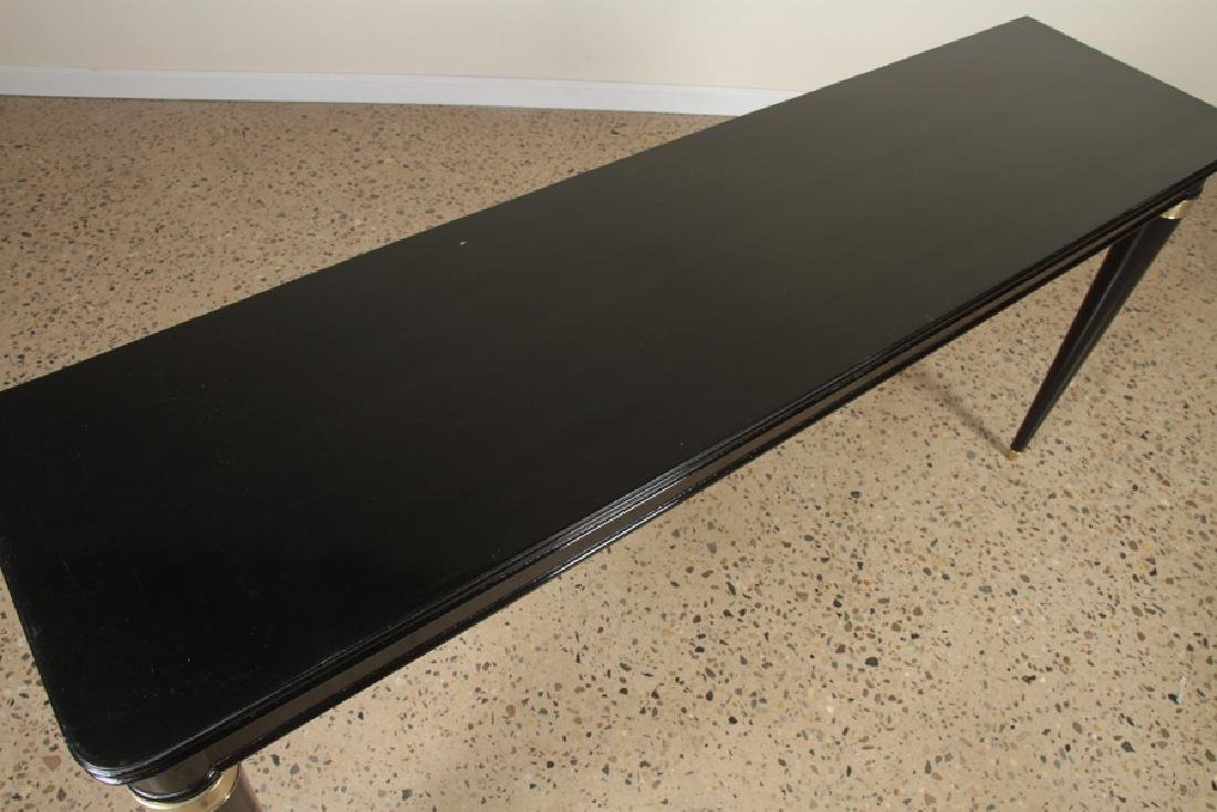 EBONIZED CONSOLE TABLE MANNER OF ANDRE ARBUS 1940 - 3