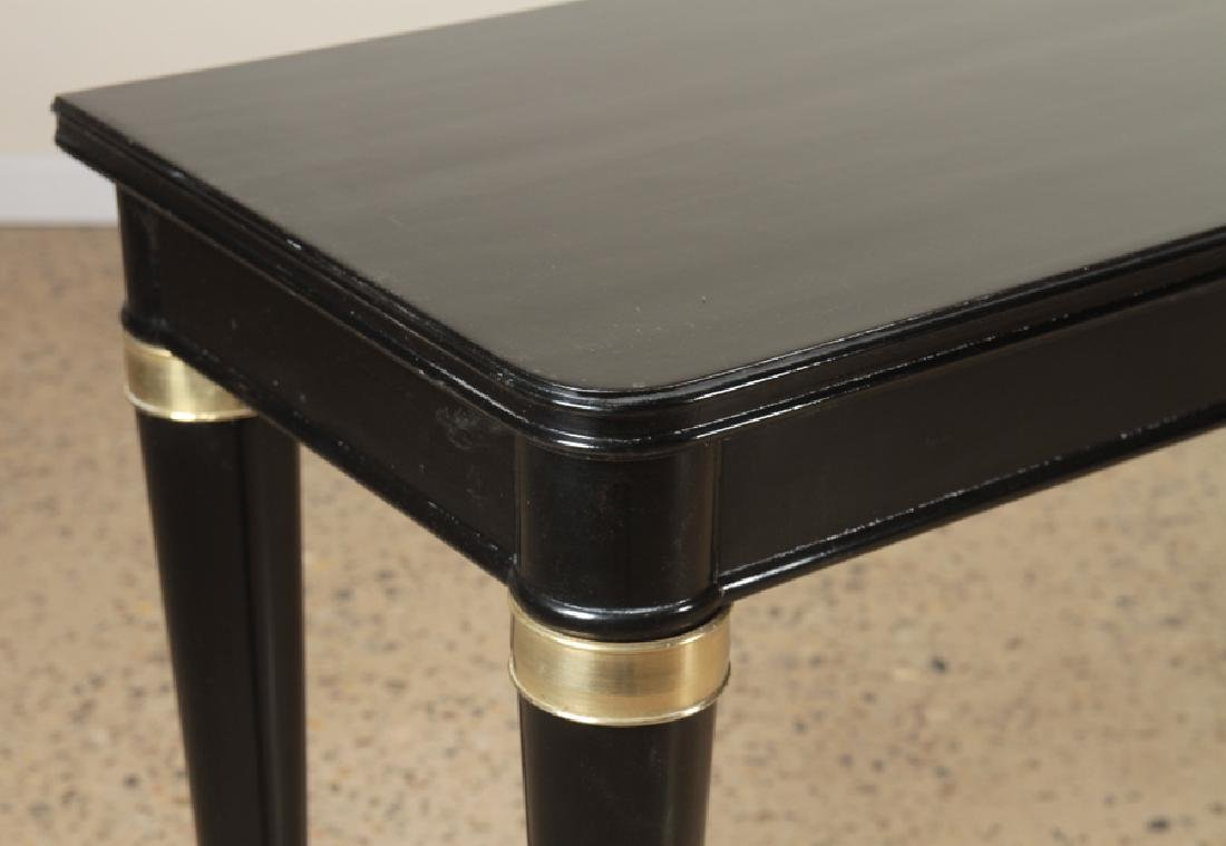 EBONIZED CONSOLE TABLE MANNER OF ANDRE ARBUS 1940 - 4