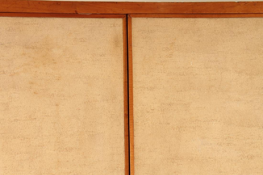 MAHOGANY GENTLEMAN'S WARDROBE PARCHMENT COVERED - 2
