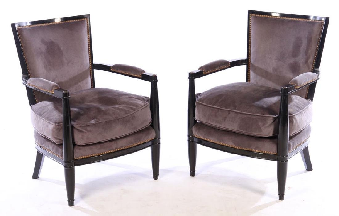 PAIR FRENCH ANDRE ARBUS STYLE CHAIRS 1940