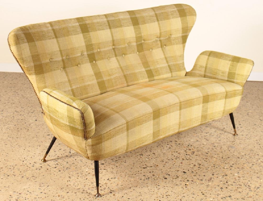 PAOLO BUFFA UPHOLSTERED SETTEE C.1960
