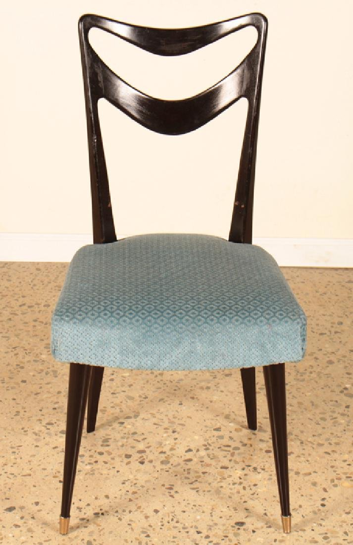SET 6 ITALIAN EBONIZED DINING CHAIRS CIRCA 1950 - 3