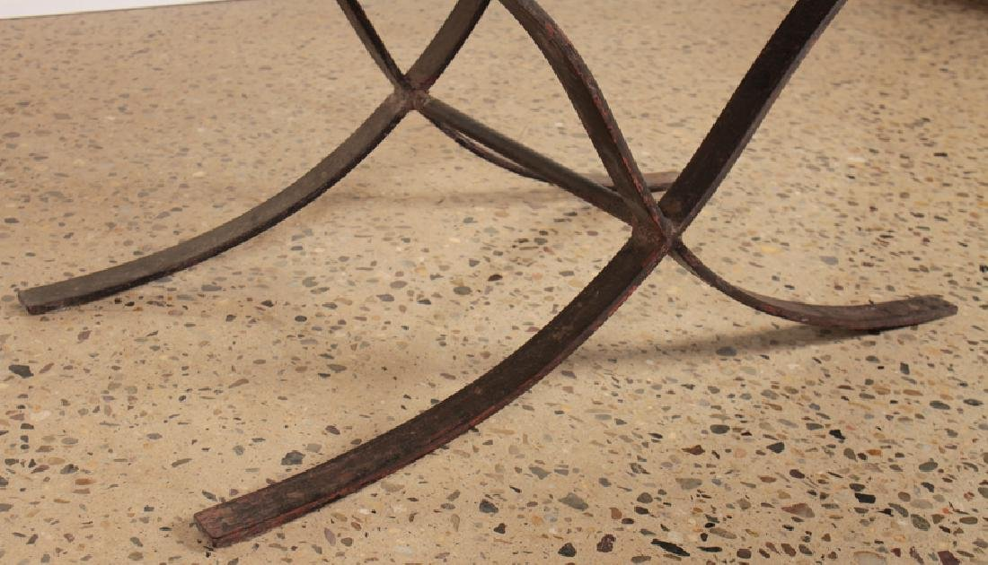 IRON COFFEE TABLE WITH SMOKED GLASS TOP - 4