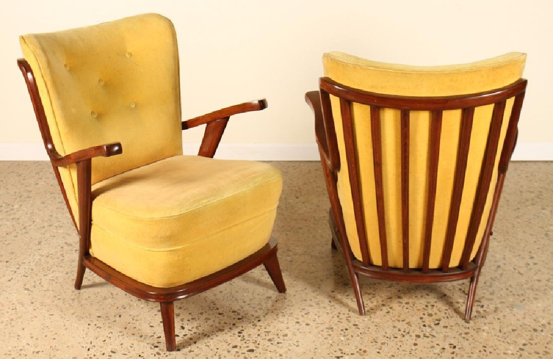 PAIR PAULO BUFFA STYLE LOUNGE CHAIRS CIRCA 1950