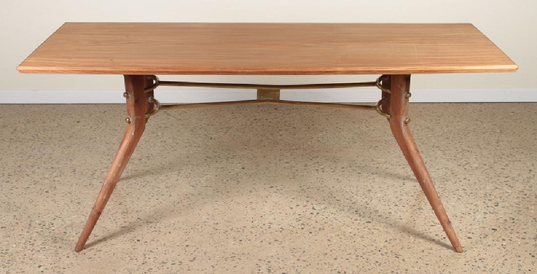 MAHOGANY DINING TABLE MANNER OF ICO PARISI C.1950 - 2